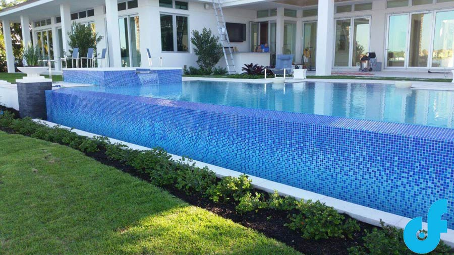 Swimming Pool Mosaics and Pool Glass Tile Ideas - DF Pools