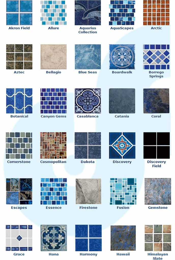 South Florida Pool Tile Samples