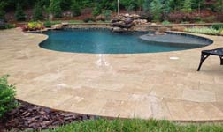 South Florida Travertine Pool Decks