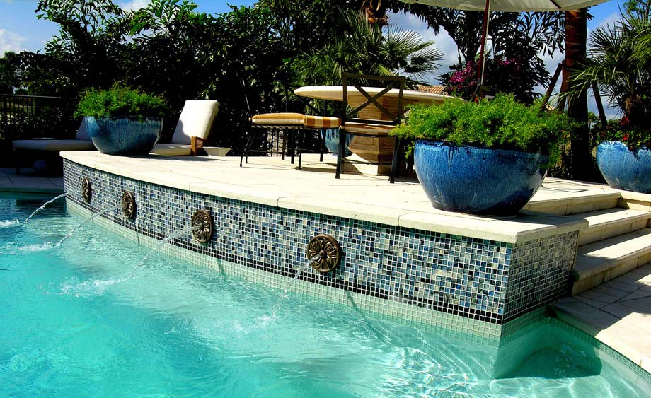 Glass Tile Swimming Pools - DF Pools